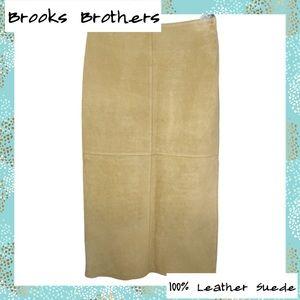 346 Brooks Brothers- Carmel 100% Leather Skirt 10